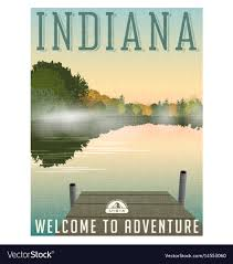 Indiana Travel Pictures images Indiana travel poster or sticker royalty free vector image jpg