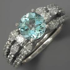 aquamarine wedding rings fay cullen archives rings aquamarine wedding set diamonds