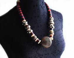 africa bead necklace etsy