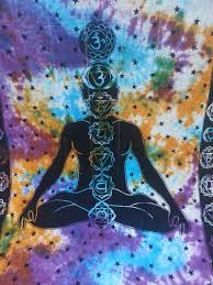 chakra tapestry bed spread blanket wall hanging tie dye