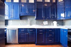 blue kitchen cabinets benefits of refinishing your kitchen cabinets