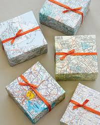 unique wrapping paper map wrapped favors wrap guests gifts in maps of the s