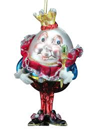gisela graham painted glass humpty dumpty bauble 15cms