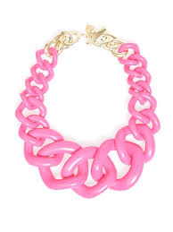 resin chain necklace images Zenzii positively radiant link statement necklace resin n1488 hot pink jpg
