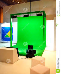 green screen set for movie shooting stock image image 31766581