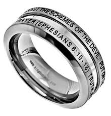 bible verse rings ephesians 6 10 18 ring armor of god christian bible verse
