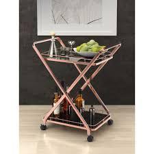 vilma modern rose gold serving cart eurway furniture
