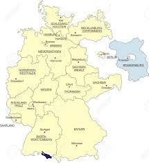 Map Of Stuttgart Germany by Map Of Germany National Boundaries And National Capitals State