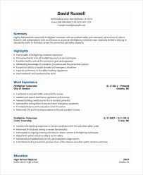 volunteer resume template volunteer firefighter resume resume templates