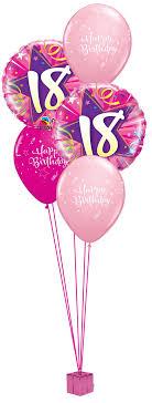 birthday balloon arrangements pink 18th birthday balloon bouquet party fever