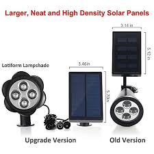 Solar Panel Landscape Lighting Separated Panel And Stake 200 Lumens Solar In Ground Lights Wall