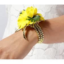 wrist corsage bracelet delicate kids corsage bracelet gold 6cm diameter corsage