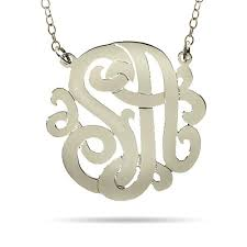 Initial Monograms Sterling Silver Monogram Jewelry Eve U0027s Addiction