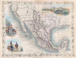 me a map of mexico file 1851 tallis map of mexico and california