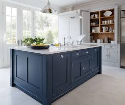 blue painted kitchen cabinet ideas blue kitchen with tiles hupehome