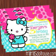 hello kitty personalized invitations vertabox com