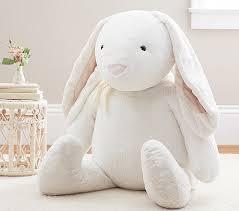 bunny plush large jumbo white bunny plush pottery barn kids