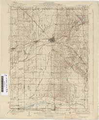 State Of Indiana Map Indiana Historical Topographic Maps Perry Castañeda Map