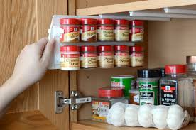 terrific organizer spice rack with maple wood wall kitchen cabinet