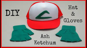 diy ash ketchum hat u0026 gloves pokemon halloween costume youtube