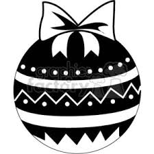 Black And White Christmas Decorations Clipart by Royalty Free Decorative Black And White Christmas Ball Ornament