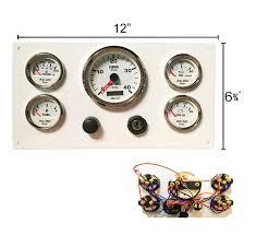 white caterpillar marine engine instrument panel white gauges