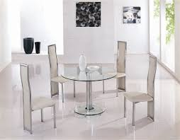 Small Glass Dining Room Tables Extension Frosted Glass Dining Table With Silver Legs