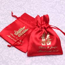 personalized wedding favor bags personalized satin drawstring favor bags asian wedding favors