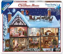 amazon com white mountain puzzles christmas house jigsaw puzzle