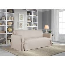 2 Piece Sofa Slipcovers by Serta Relaxed Fit Duck Furniture Slipcover Sofa 1 Piece Box