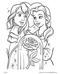 beauty beast free coloring pages art coloring pages