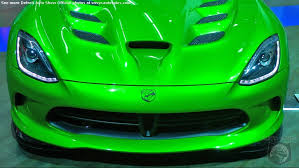 detroit auto show chrysler unveils the stryker green srt viper a