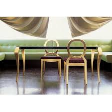 gold and glass table ghost table by miniforms modern rococo style