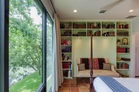 Green Bookshelves - bathroom tiles in shower looks like old wood