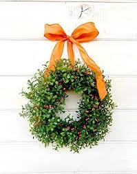 amazon com mini window wreath mini boxwood wreath fall wreath
