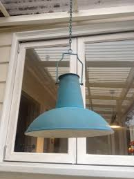french industrial pendant lighting french blue metal pendant light rustique