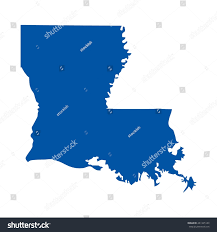 Map De Usa by Louisiana State Usa Vector Map Isolated Stock Vector 309561773