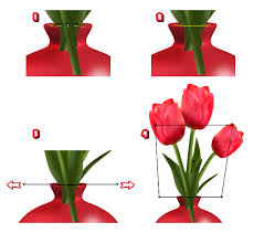 Drawings Of Flowers In A Vase Create Detailed Tulips With Gradient Mesh Without The Mesh Tool