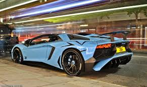 Blue Lamborghini Aventador - sssupersports on twitter
