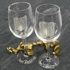 Wine Glass Gifts Pair Of 30th Anniversary Wine Glasses The Gift Experience