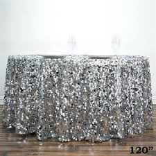 Sequin Table Runner Wholesale Silver Table Cloths Shimmering Polyester Table Runners Silver
