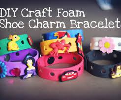 diy craft foam shoe charm bracelets 6 steps with pictures