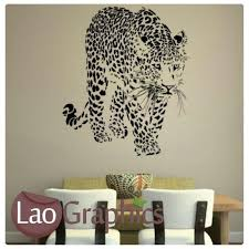 Cheetah Home Decor Cheetah Wild Animals Big Cat Wall Stickers Home Decor Large Art