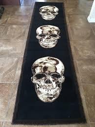 Skull Area Rug Skull Runner Area Rug Brown U0026 Black Design Awesome Skulls