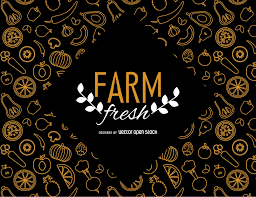 farm fresh wallpaper with vegetables vector download