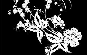 imagenes blancas en fondo negro negro y decoración de flores blancas descargar vectores gratis