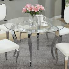 Glass Top Round Dining Tables by Letty Round Dining Table Mirror Glass Top Cabriole Legs Dcg