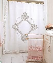 Battenburg Lace Curtains Panels Elite Battenburg Lace White Cotton Shower Curtain The Lace And