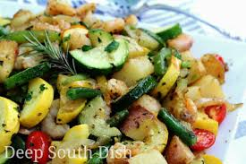 Garden Vegetable Salad by Deep South Dish Garden Vegetable Skillet With Shrimp
