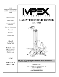 mpex pm 4510 owner s manual
